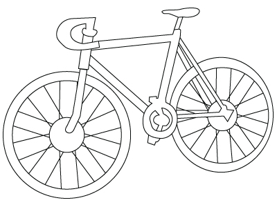 Bicycle drawing to color