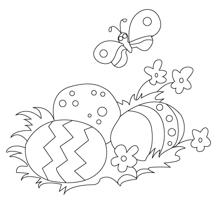 easter eggs pictures to colour. Easter egg drawing to color